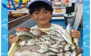 串木野港で大漁!サビキ釣り♪